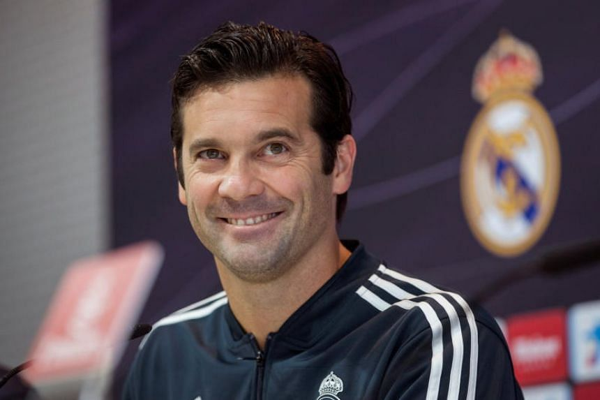 Real Madrid's head coach Santiago Solari at a press conference in Madrid, Spain, on Nov 10, 2018.