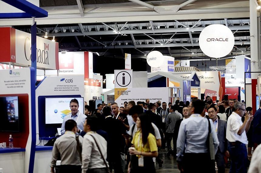 The five-day Singapore FinTech Festival, which ends on Friday, has drawn about 40,000 participants from more than 100 countries, making the event the biggest annual gathering of the global fintech community, according to the Monetary Authority of Sin