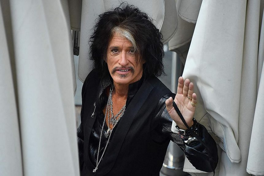 Aerosmith's Joe Perry (above) had collapsed after performing with Billy Joel in New York's Madison Square Garden last Saturday.