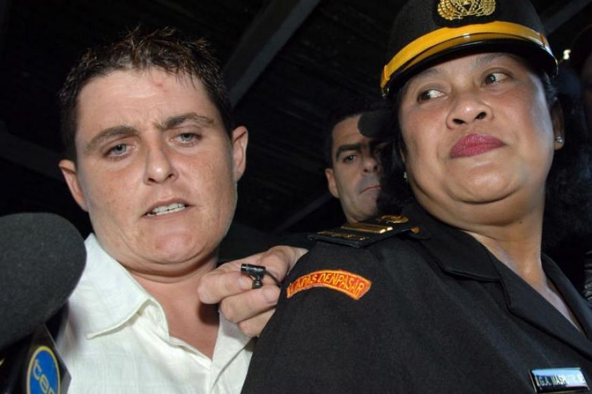 File photo of Australian Renae Lawrence before her trial at a court in Denpasar, Bali on Oct 21, 2005.