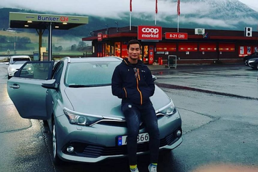 Mr Clement Tan, 21, in a photo taken earlier in November 2018 in Norway. He is a Singaporean studying in a university in London.