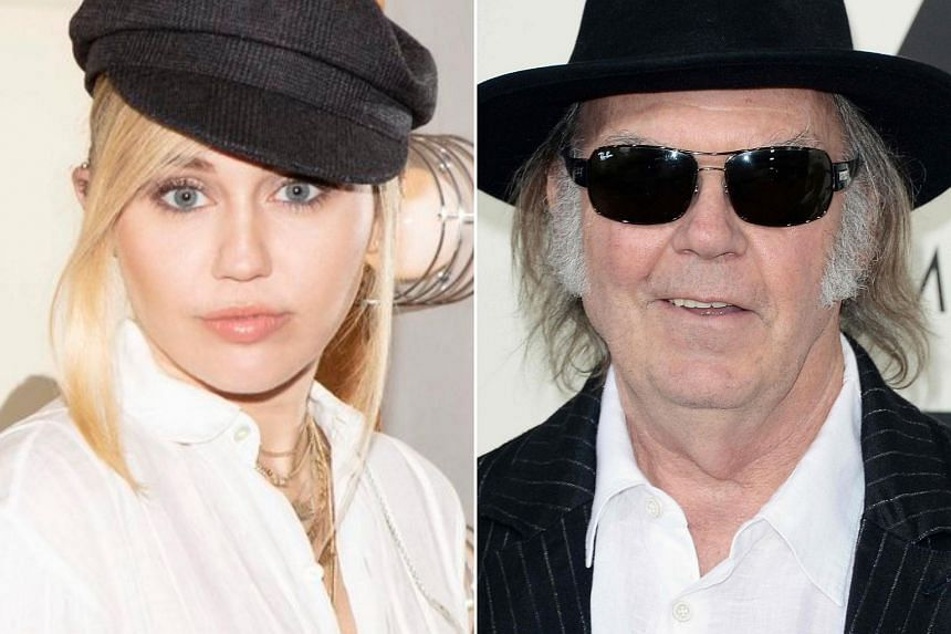 Singers Miley Cyrus (left) and Neil Young were among hundreds of people who lost their homes in wildfires that destroyed parts of the California seaside town of Malibu.