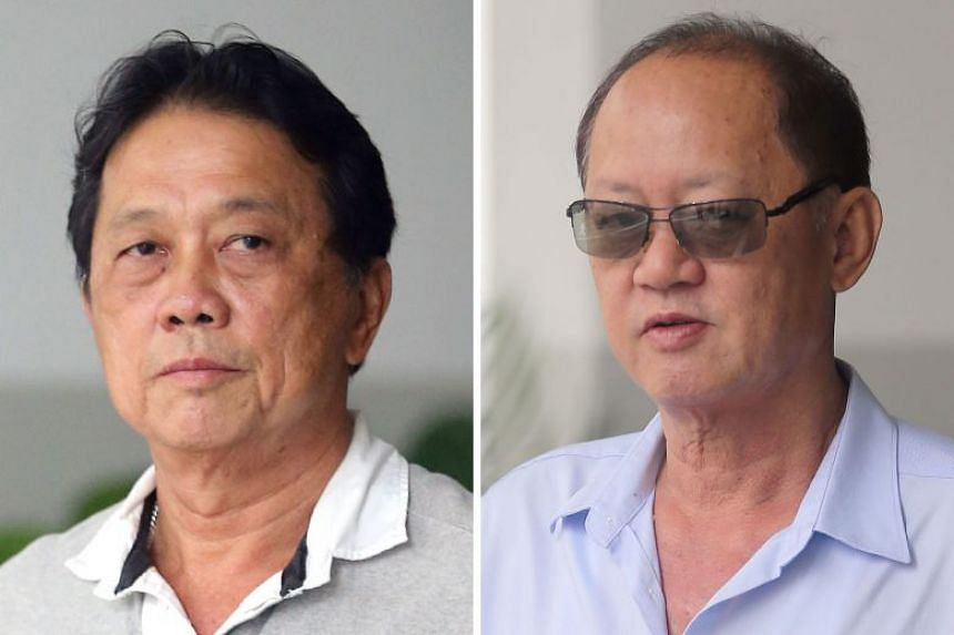 Mr Tay Eng Chuan (left) told the court he was stunned when Chia Sin Lan told him a debit card that was registered to his own company was being used to entertain Wong Chee Meng, who is on trial for corruption charges, at dinner and karaoke sessions.