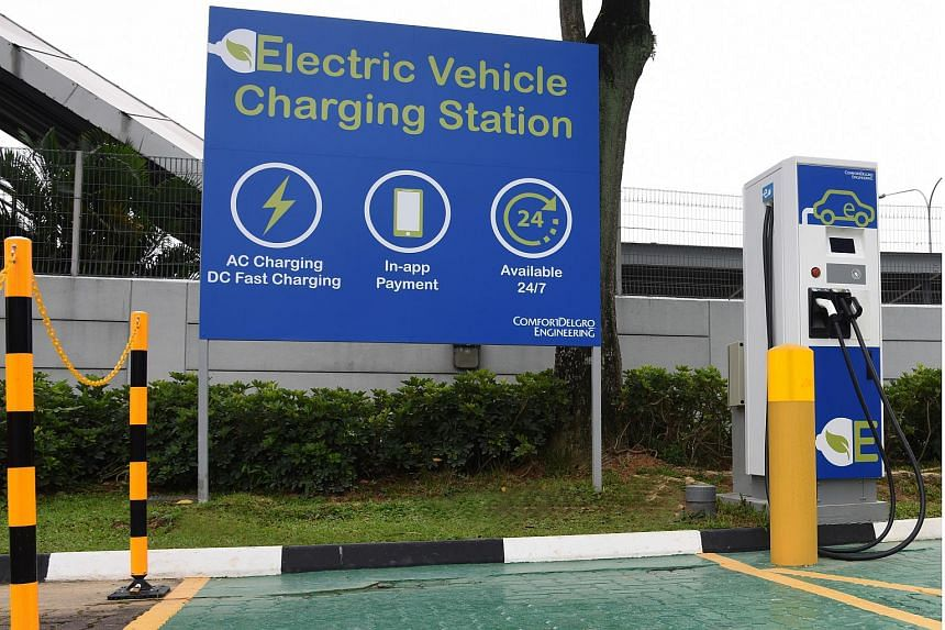 The Terra 54 direct current fast-charger is located in its Braddell Road headquarters and will be open round the clock.