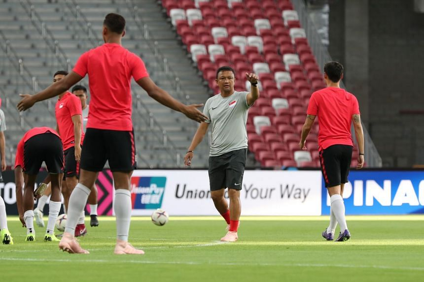 Singapore national coach Fandi Ahmad at the National Stadium on Nov 8,2018, before the team's first home AFF Suzuki Cup 2018 match against Indonesia.