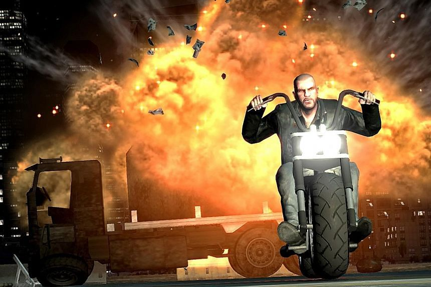 A still (left) from video game Grand Theft Auto IV: The Lost And Damned. Christopher Anderson, a man from Melbourne who is linked to an unauthorised plug-in for Grand Theft Auto Online, faced a search-and-seizure order after the game's publisher and