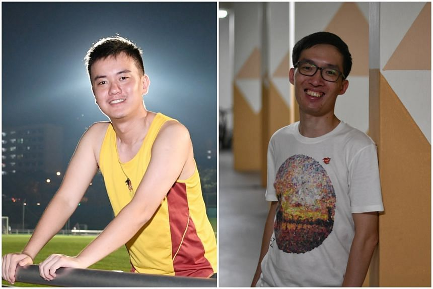 Financial consultant Yan Jianfeng (left), 26, and software developer Phyo Myat Thu, 29, had served NS and are now Singapore citizens.