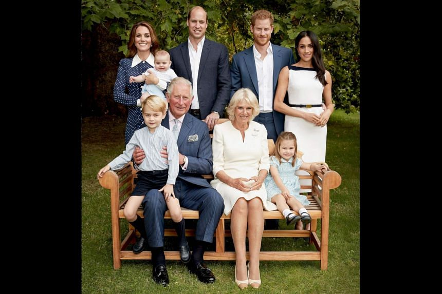 Prince Charles Holds George In An Official Portrait To Mark His 70th Birthday With