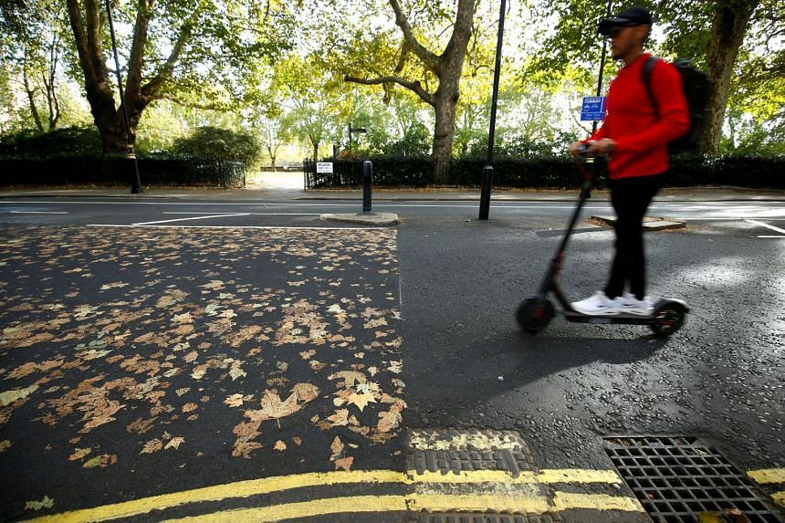 In Britain, e-scooters are not permitted on public roads or pavements, and can only be ridden on private land.