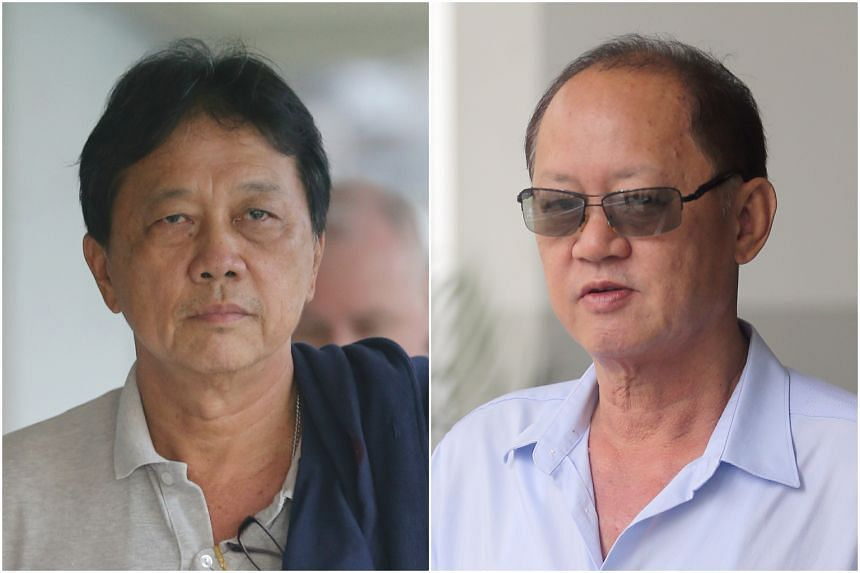 """Prosecution witness Tay Eng Chuan (left) had said earlier this week that the remittance arranged by his business partner, Chia Sin Lan (right), in June 2015 was """"inappropriate"""" and a """"form of bribery""""."""
