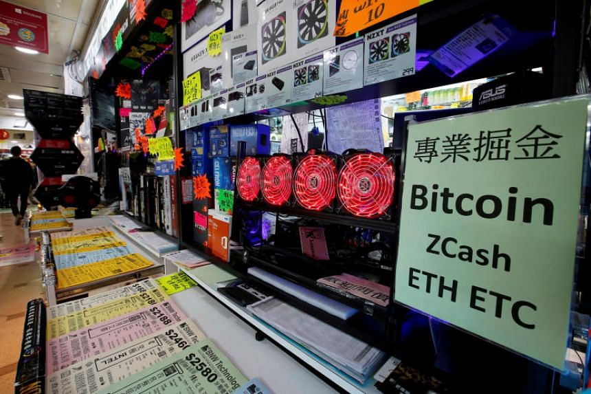 A cryptocurrency mining computer at a computer mall in Hong Kong. Cryptocurrency mining equipment maker Canaan Inc's application lapsed on Nov 15, 2018, six months after it was filed.