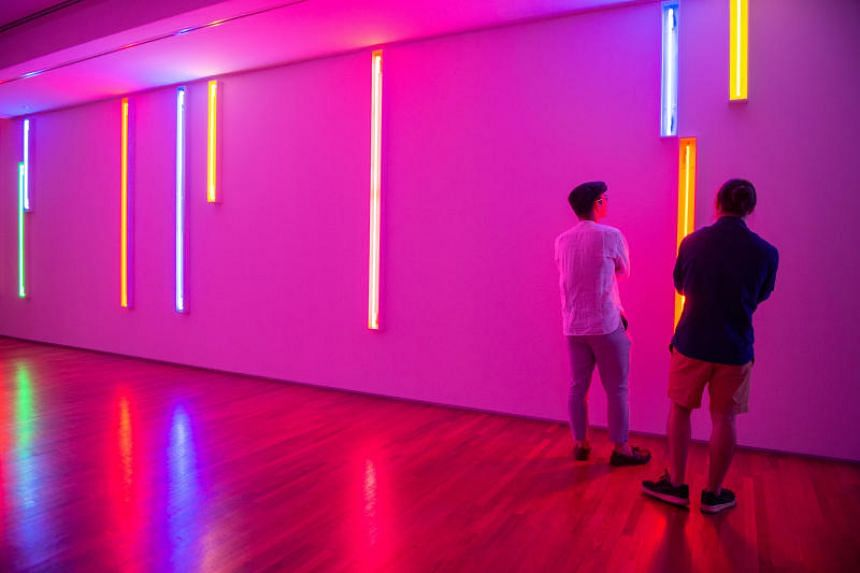 Neon Light Installations (1970–2002) by Peter Kennedy is part of the Minimalism: Space. Light. Object exhibition at the National Gallery and ArtScience Museum.