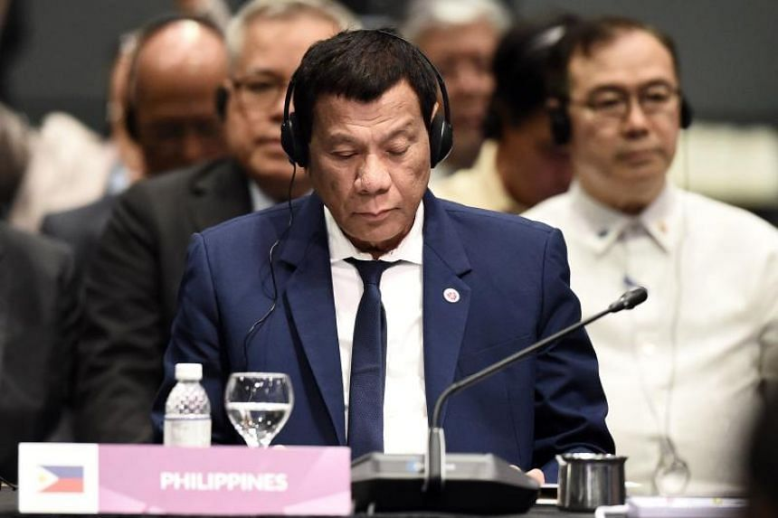 """Philippine President Rodrigo Duterte said should war erupt in the South China Sea, """"my country will be the first to suffer""""."""