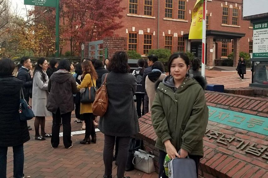 Nineteen-year-old Kim Seo-yeon is one of the 595,000 students who registered for the national university entrance exam on Nov 15, 2018.
