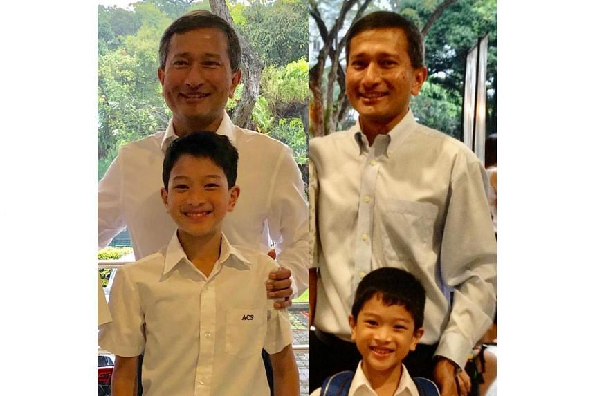"""Minister for Foreign Affairs Vivian Balakrishnan said he could """"still recall the first day of school six years ago""""."""