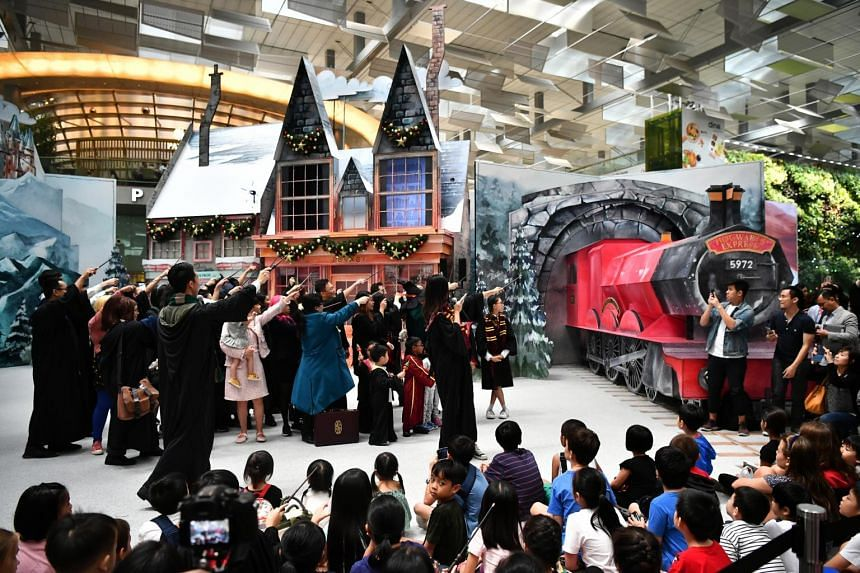 A Wizarding World Holiday at Changi is the first Harry Potter-themed event held outside the Universal Studios theme parks, as well as the first in an airport.