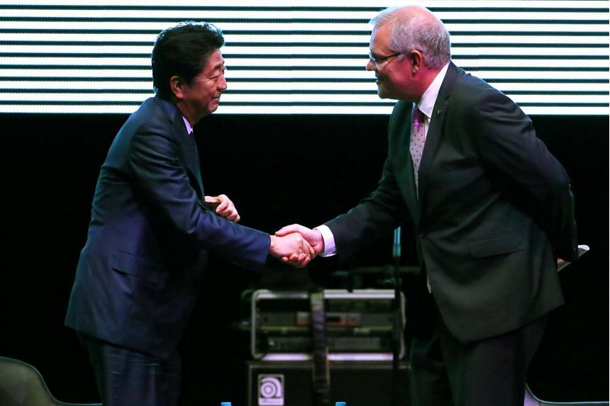 Japanese Prime Minister Shinzo Abe and his Australian counterpart, Mr Scott Morrison, announced a series of new agreements spanning defence, scientific research and investment.