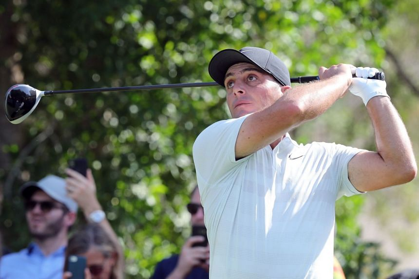 Molinari of Italy plays a shot during day one of the DP World Tour Championship.