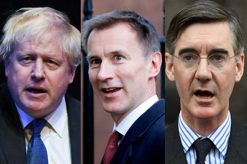 (From left) Boris Johnson, Jeremy Hunt and Jacob Rees-Mogg.