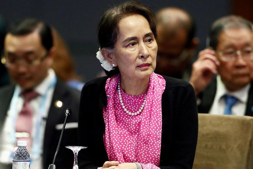 China's statement cited Ms Aung San Suu Kyi as expressing thanks to China for the many times it has extended help to Myanmar.