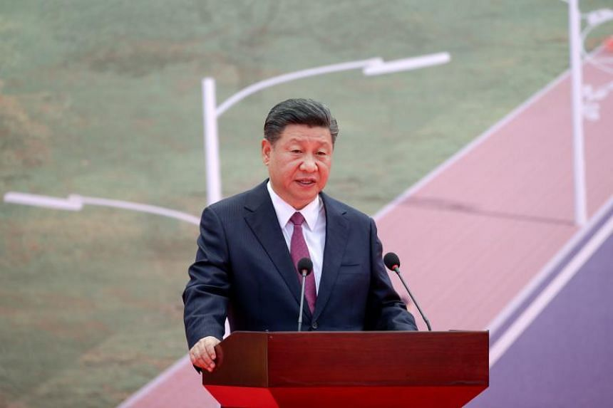 China's President Xi Jinping speaks during the opening ceremony of the China-Aid PNG Independence Boulevard Project in Port Moresby on Nov 16, 2018.