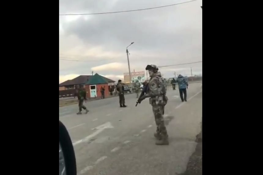 A screenshot from a video posted to social media after the incident.