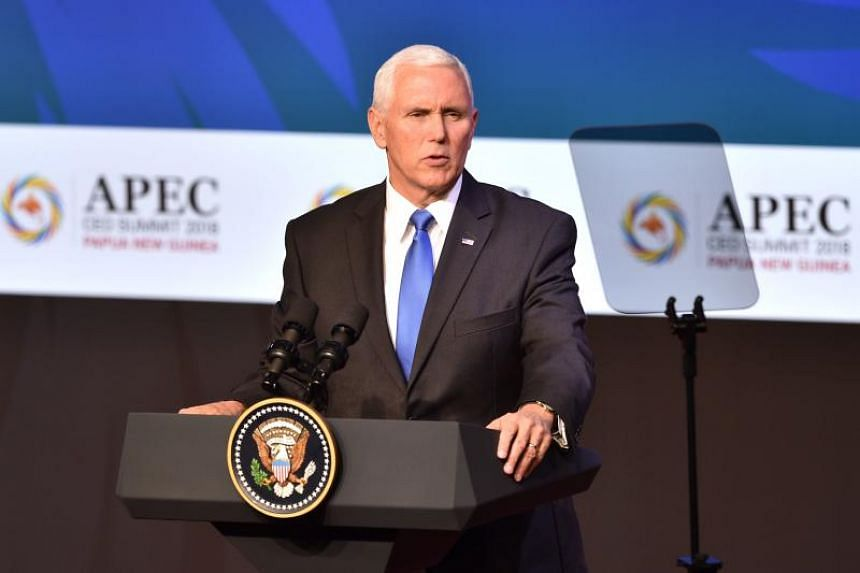 """US Vice-President Mike Pence said the US had a """"principled approach"""" to financing infrastructure projects in the region, which stood in stark contrast to the predatory behaviour of some other unnamed nations."""