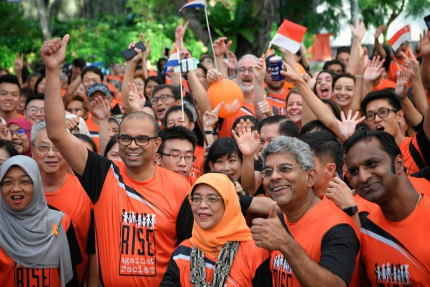 President Halimah Yacob flagged off the sixth edition of the Orange Ribbon Walk at Esplanade Park on Nov 17, 2018.
