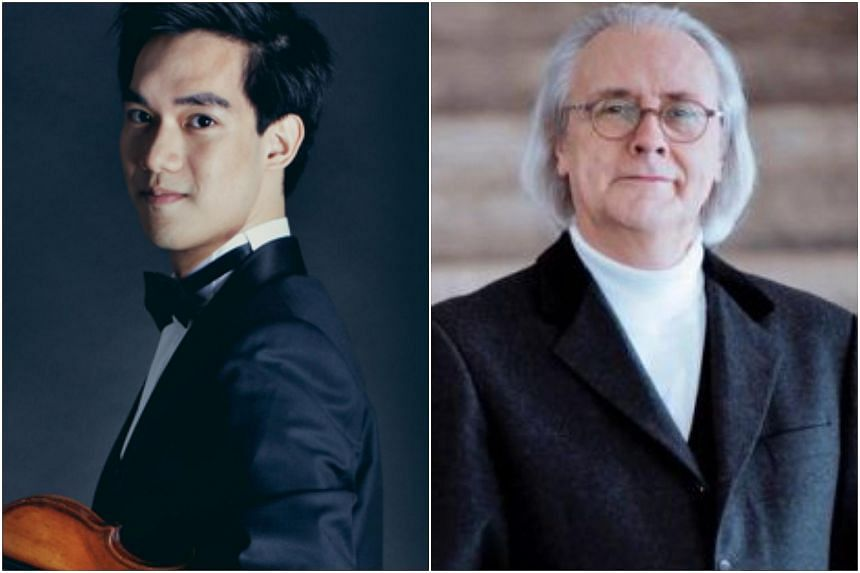 Richard Lin (left) possesses unbridled virtuosity, but it was left to Kees Bakels and the SSO to create the richly romantic atmosphere, which lies at the heart of Korngold's work.