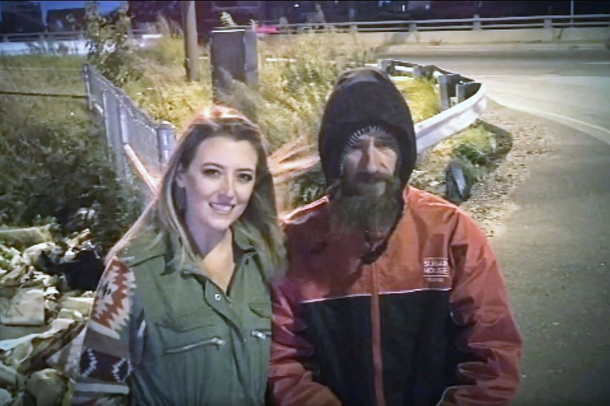 Kate McClure and Johnny Bobbitt Jr. She claimed that she had been out of petrol and money when Bobbitt, who was homeless, offered her his last US$20 (S$27) so that she could get home.