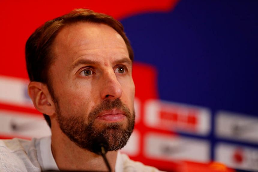 "England manager Gareth Southgate at a press conference in Watford, Britain on Nov 17, 2018. He said that ""it has been a brilliant year""."