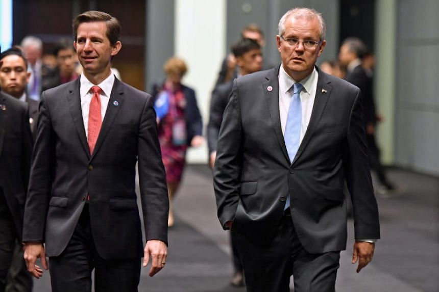 Australian trade minister Simon Birmingham (left) downplayed friction with Indonesia over Australia's possible Jerusalem embassy. Prime Minister Scott Morrison floated the idea of moving the embassy earlier this year.