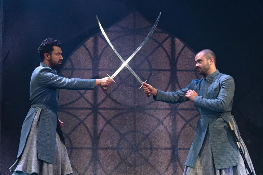 Ghafir Akbar (left) and Jay Saighal performing in Guards At The Taj.