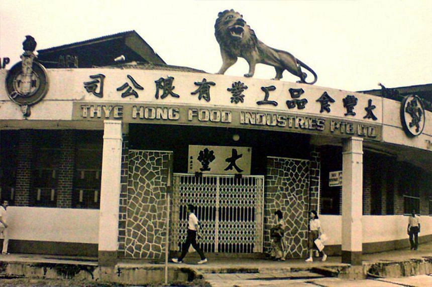 The lion was perched atop the Thye Hong biscuit factory for almost 50 years, but it was moved to Sentosa after the factory closed in 1982. It is set to return to Queenstown next month, when the new community museum opens. Madam Alice Tan, 69, (centre
