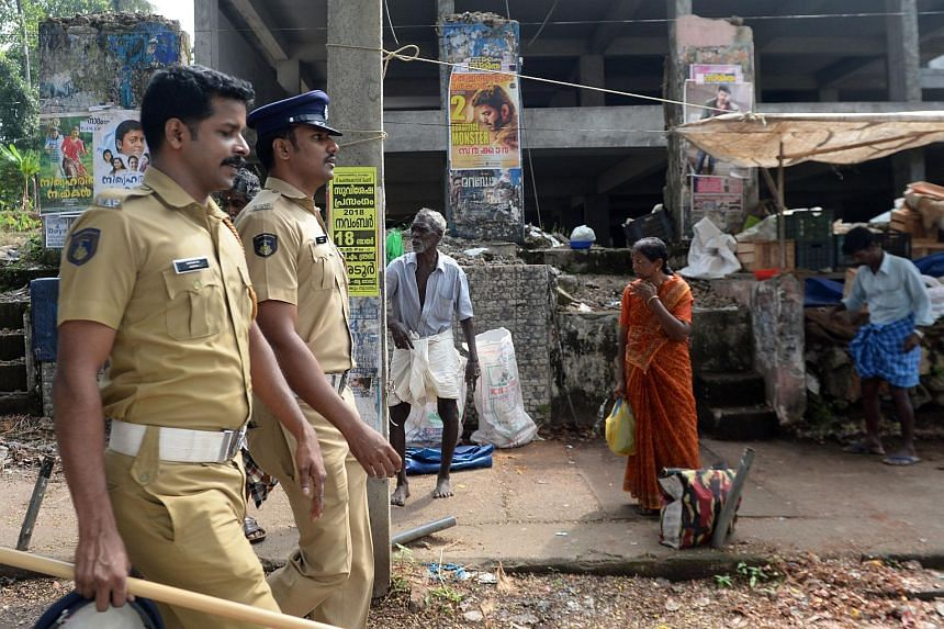 The Kerala government sent thousands of police to the region, fearing a repeat of pitched battles between devotees and security forces.
