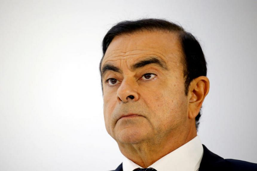 Carlos Ghosn, chairman and CEO of the Renault-Nissan-Mitsubishi Alliance, attends a press conference at the Paris auto show, in Paris, on Oct 3, 2018.
