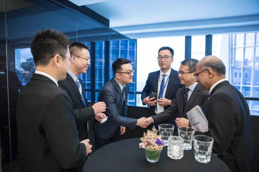 Senior Minister of State for Law and Health Edwin Tong meeting lawyers from law firms in China's Shaanxi Province on Nov 19, 2018.