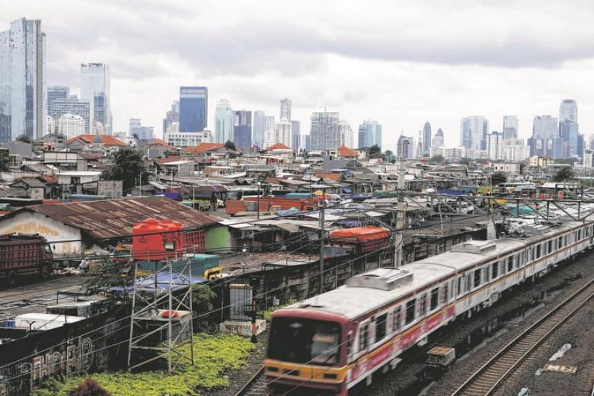 A general view of high-rise buildings at the Tanah Abang district in Jakarta, Indonesia.