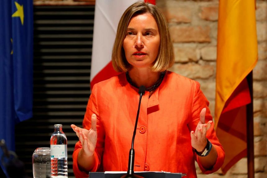 """What happened (in Denmark) was completely unacceptable and this was clearly stated by all of us,"" said EU foreign policy chief Federica Mogherini."