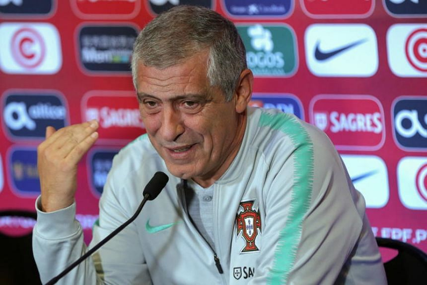Portugal's head coach Fernando Santos attends a press conference ahead of the upcoming UEFA Nations League match against Poland at D. Afonso Henriques stadium in Guimaraes, northern Portugal, on Nov 19, 2018.