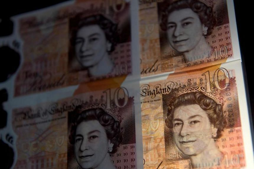 The pound rose 0.1 per cent versus a weaker dollar to US$1.2850.