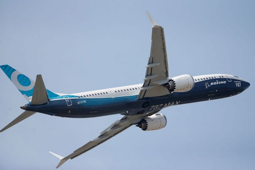 A Boeing 737 Max taking part in flying display at the 52nd Paris Air Show at the Le Bourget Airport near Paris, on June 20, 2017.