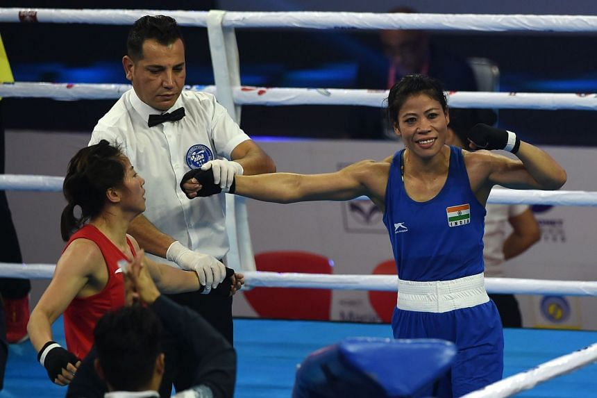 India's Mary Kom beat China's Wu Yu 5-0 in the 48kg quarter-finals of the flagship contest in New Delhi on Nov 20, 2018, ensuring at least a bronze medal as she advances to the final four.