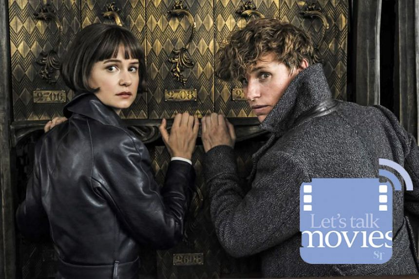 The stars of Fantastic Beasts: The Crimes Of Grindelwald - Katherine Waterston and Eddie Redmayne.