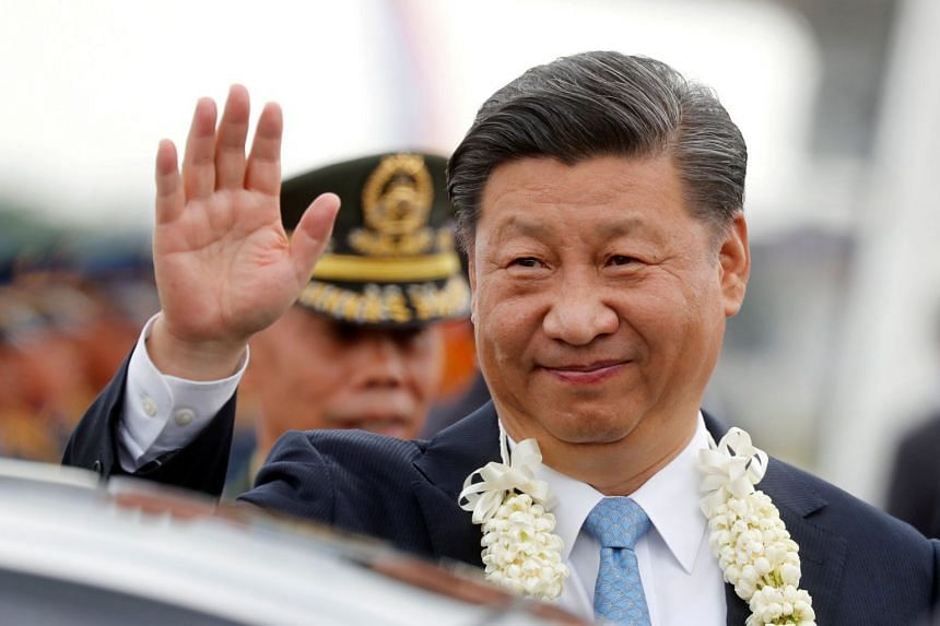 Chinese President Xi Jinping arrives at Ninoy Aquino International airport in Manila for a state visit on Nov 20, 2018.