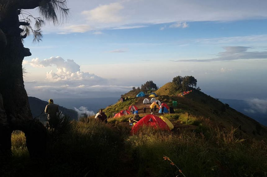 The Mount Rinjani hiking trail had been closed in the wake of recent landslides.