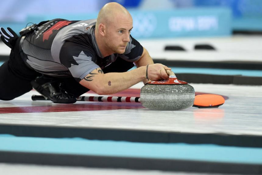 "Ryan Fry, who won gold for Canada at the 2014 Winter Olympics in Sochi, was tossed out of the Red Deer Curling Classic along with Jamie Koe, DJ Kidby and Chris Schille for ""unsportsmanlike behaviour""."