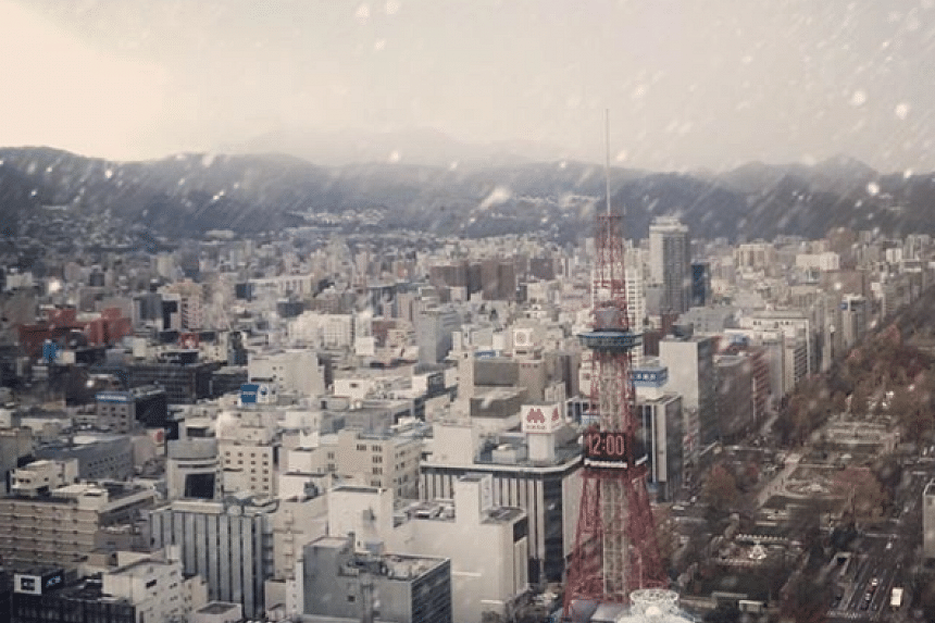 The capital city of the northern Japanese island of Hokkaido saw its first snowfall of the season on Nov 20, the latest date ever recorded in history.