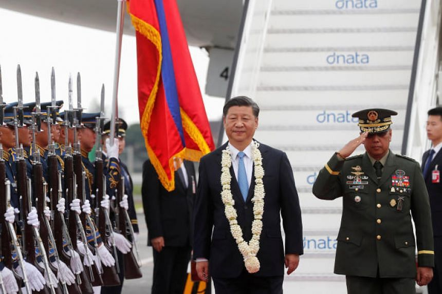 Chinese President Xi Jinping arrives at Ninoy Aquino International airport for a state visit in Manila, Philippines on Nov 20, 2018.
