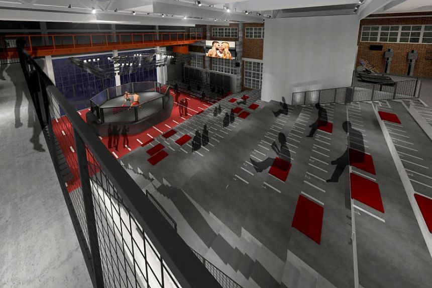 An artist's rendering of part of the the Ultimate Fighting Championship's Performance Institute Shanghai's facility.
